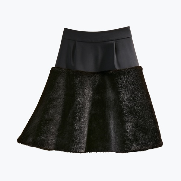 "Skirt ""Love Fur Flare"" (Black Black)"