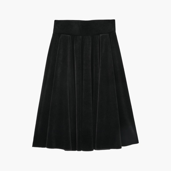 "Skirt ""Swing Flare""(Velvet Black)"