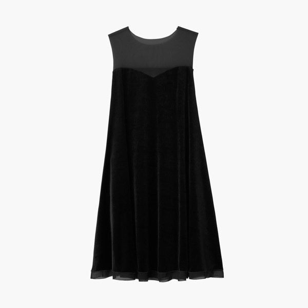 "Dress ""Velour Swing"" (Black Sheer)"