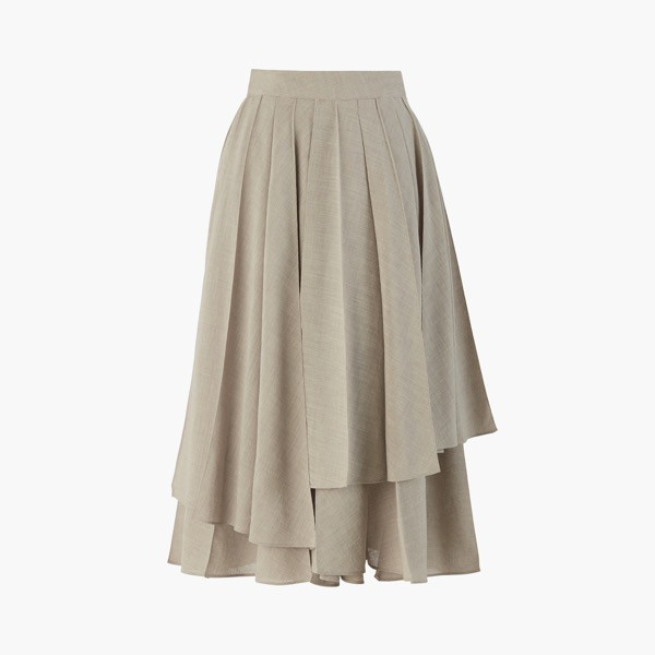 "Skirt ""Washable European Pleats""(Hampton Beige)"