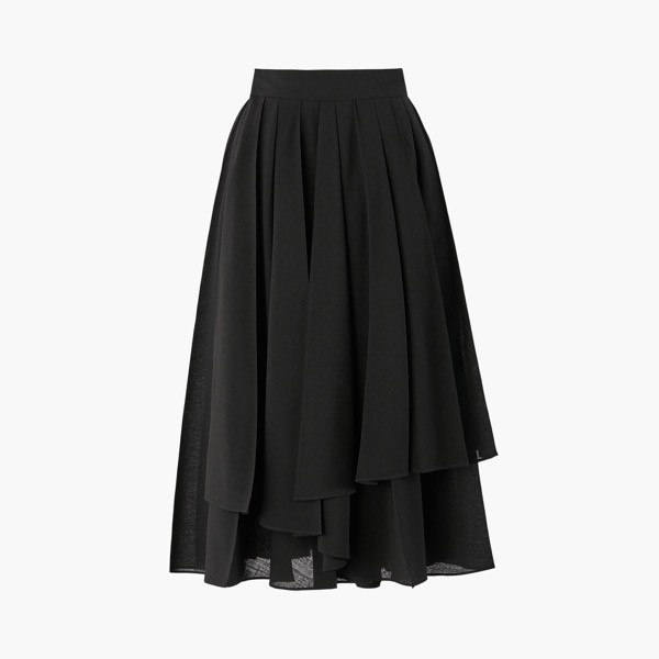 "Skirt ""Washable European Pleats""(Black)"